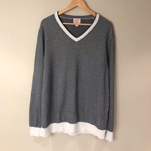 Brooks brothers black and white pullover V Neck Size XXL